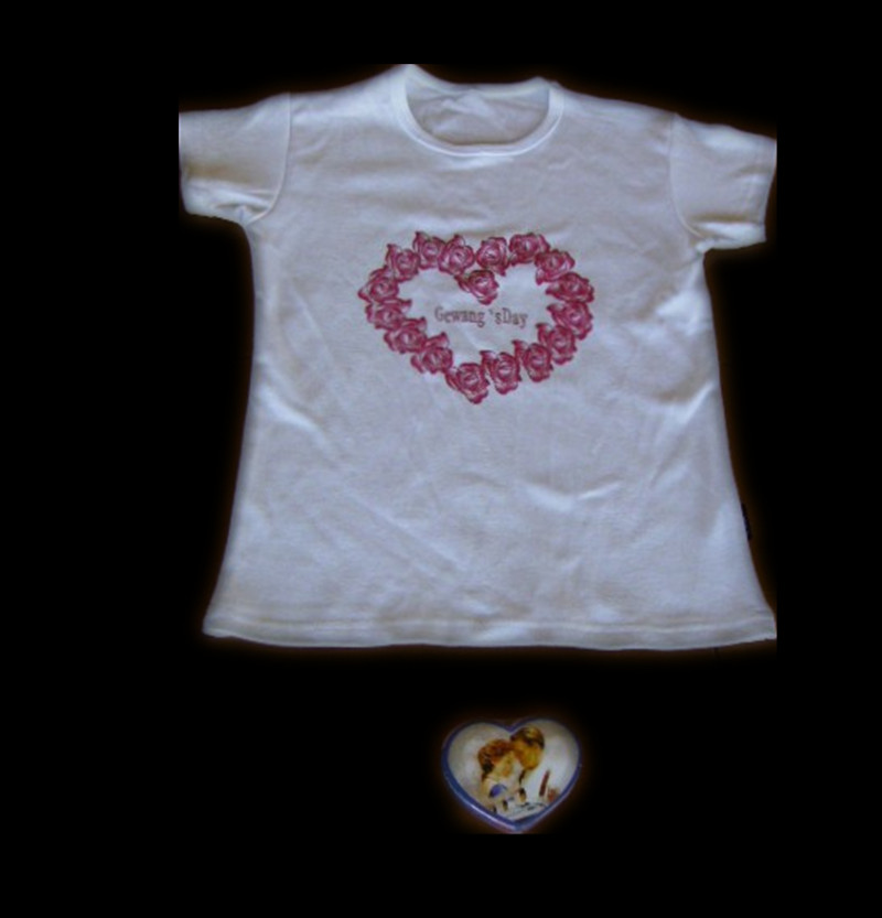Compressed T-Shirt in Heart Shape (YT-770)