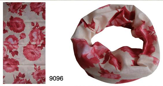 Tube Scarf in Bigger Flower Design (YT-9096)