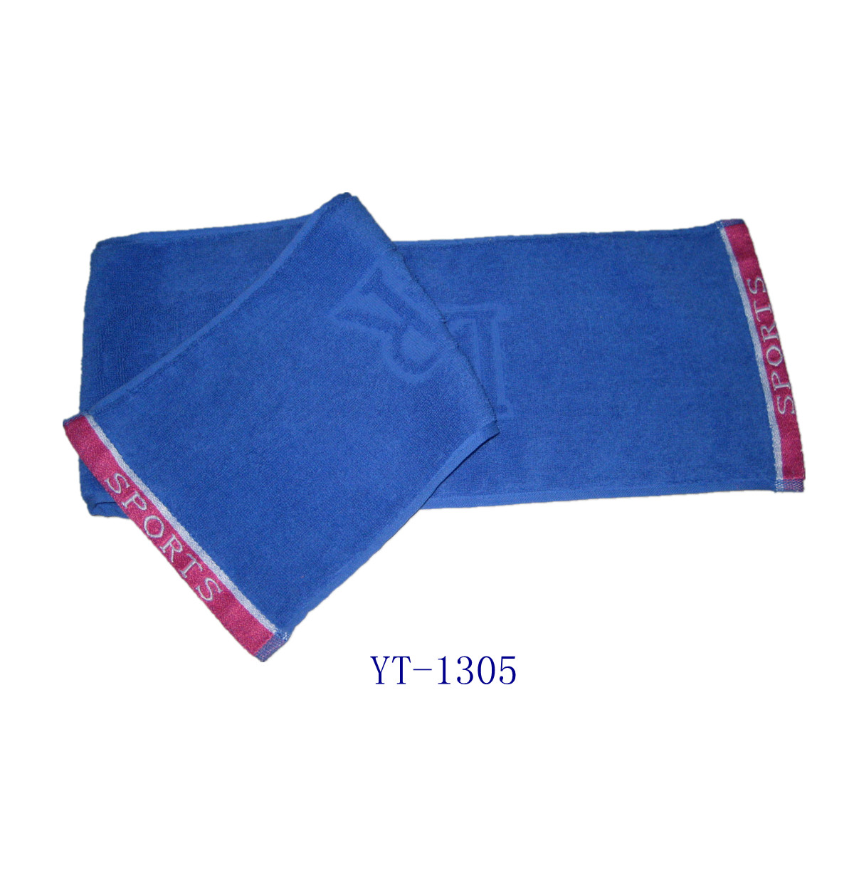 Jacquard Sports Towel, 100% Cotton Material, Blue Color as YT-1305