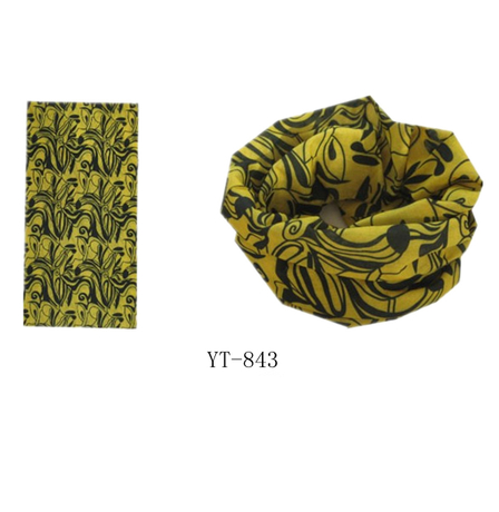 Bandana in Yellow and Black Color Design as YT-843