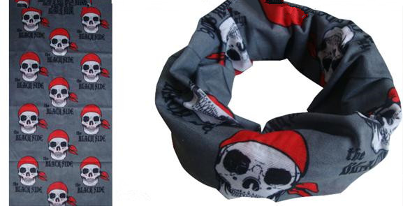Skull design tube scarf, tubular bandana, neck warmer