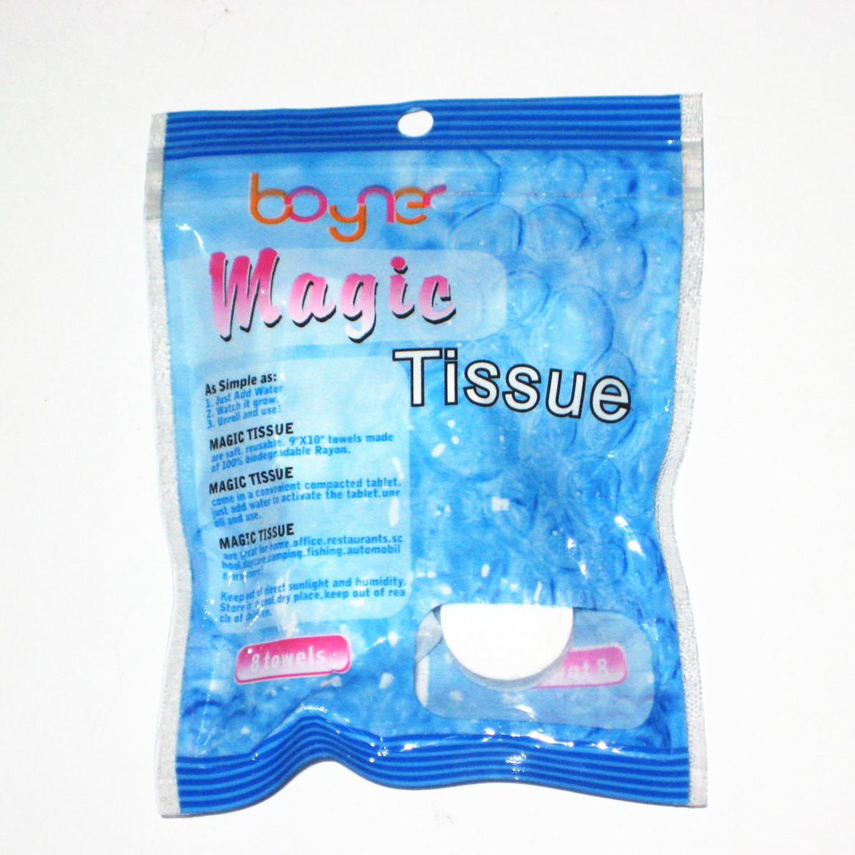 Coin Tissues with 8PCS Color Bag Pack for Promotion (YT-711)