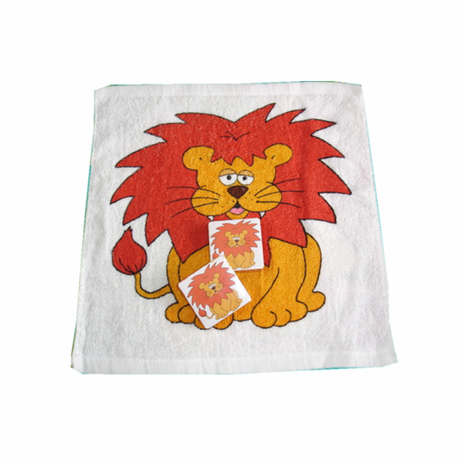 Square Shape Compressed Towel with Lion Printing (YT-660)