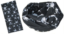 Multifunctional Scarf in black and white skull design (YT-892)