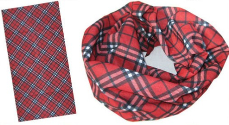 Promotional Headwear, Magic Tube Scarf in Tartan Design (YT-884)